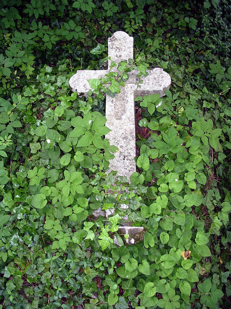 Vergessenes Grab auf dem früheren Friedhof