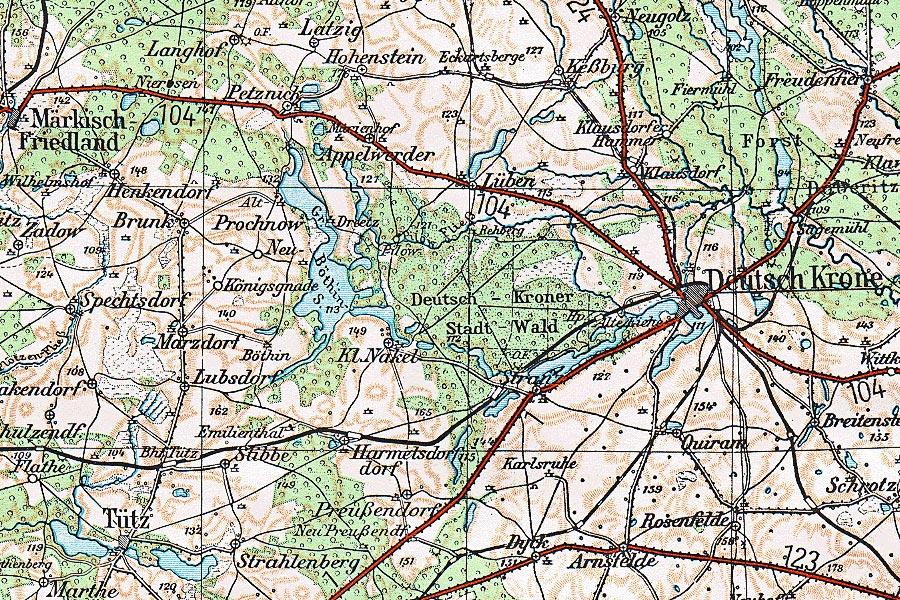 Landkarte des Kreise Deutsch Kone